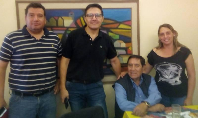 Castellon em visita à Bolívia