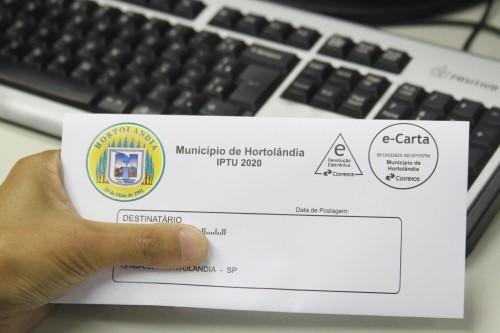 Carnê IPTU 2020 será entregue pelo correio (Crédito: divulgação)