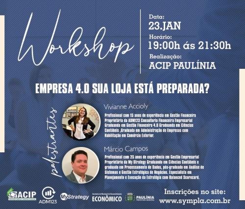 Workshop desenvolvido pela ACIP (Crédito: divulgação)