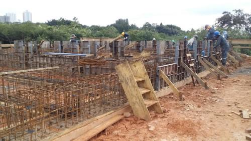 Construção da nova ponte em Hortolândia (Crédito: divulgação)