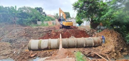 Obras para a nova ponte em Sumaré (Crédito: divulgação)
