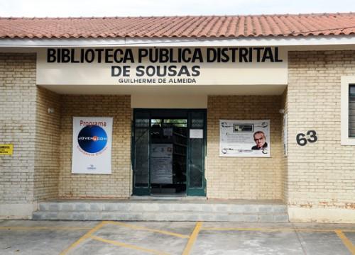 Fachada da Biblioteca Pública de Sousas (Crédito: divulgação)