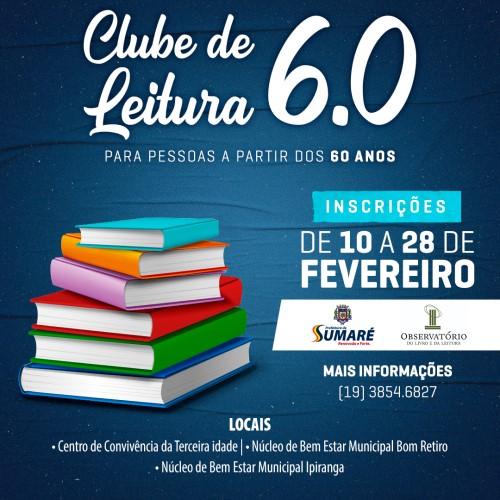Clube de Leitura para idosos (Crédito: divulgação)