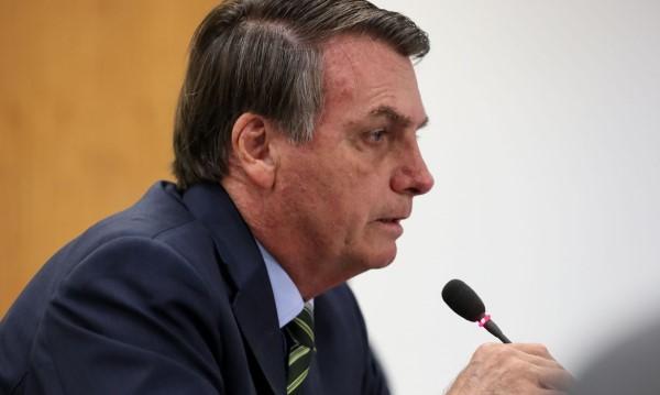 O presidente Jair Bolsonaro em pronunciamento (Crédito: Marcos Corrêa)