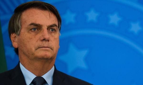 O presidente Jair Bolsonaro em pronunciamento (Crédito: Marcello Casal Jr.)