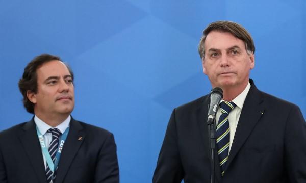 Guimarães e Bolsonaro (Crédito: Marcos Corrêa)