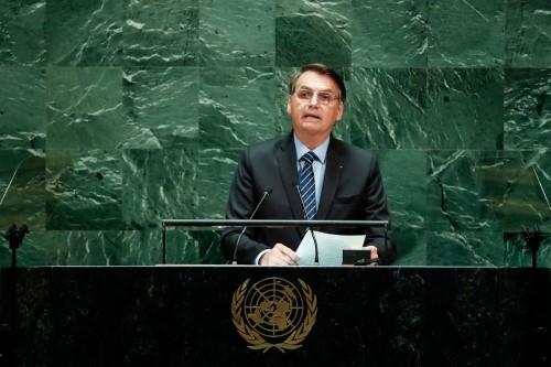 Bolsonaro em discurso na Onu (Crédito: Agência Brasil)