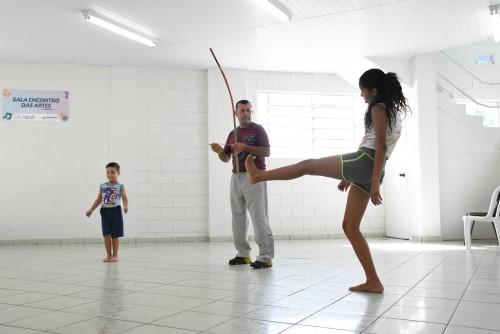 Capoeira está entre as modalidades oferecidas (Crédito: divulgação)