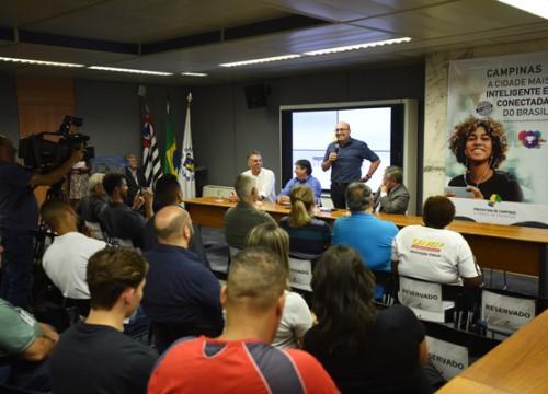 Cerimônia de lançamento do programa, na Prefeitura de Campinas (Crédito: divulgação)
